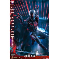 Figura Miles Morales 2020 Suit Spiderman Videojuego Hot Toys