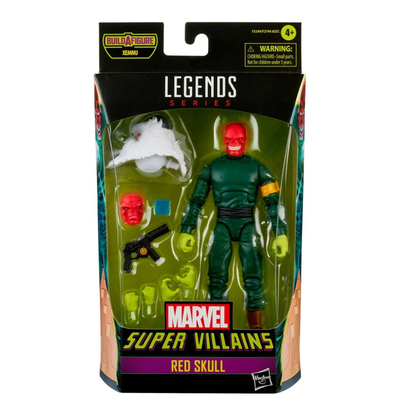 Figura Red Skull Cráneo Rojo Marvel Legends Build A Figure Xemnu Hasbro