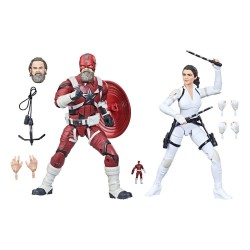 Pack 2 Figuras Red Guardian y Melina Black Widow Marvel Legends
