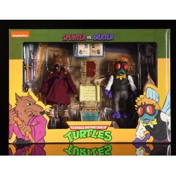 Pack 2 Figuras Splinter y Baxter Stockman Cartoon Tortugas Ninja Neca