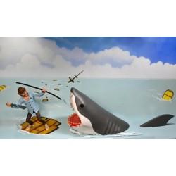 Pack 2 Figuras Tiburón y Quint Toony Terrors Jaws Neca