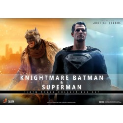 Pack Figuras Batman Knightmare y Superman Zack Snyder's Justice League Hot Toys Escala