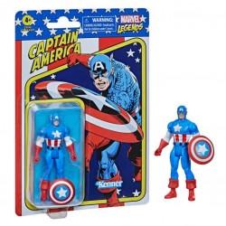 Figura Capitán América Marvel Legends Retro