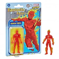 Figura Antorcha Humana Marvel Legends Retro