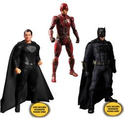 Set Deluxe Figuras Superman, Batman y Flash Zack Snyder's Justice League Mezco The One 12: Collective