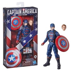 Figura Capitán América John F. Walker Falcon y El Soldado De Invierno Marvel Legends