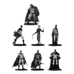 Box Set  7 Estatuas Batman Black & White Mini Figuras DC Direct