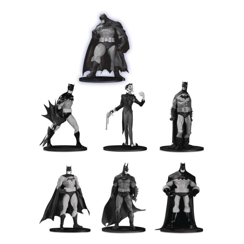 Box Set  7 Estatuas Batman Black & White Mini Figuras DC Direct