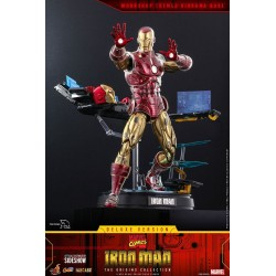 Figura Iron Man Suit Armor Deluxe Marvel Comics Hot Toys