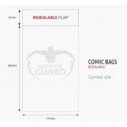 Bolsas Protectoras para Cómics Tamaño Current (Actual) con Cierre Reutilizable