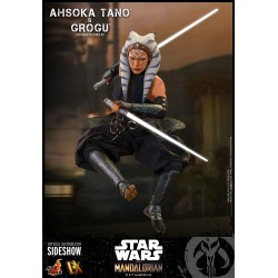 Pack Figuras Ahsoka Tano y Grogu The Child Baby Yoda Star Wars The Mandalorian Hot Toys