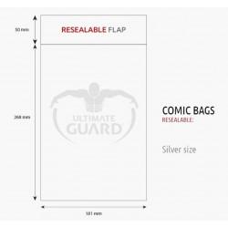 Bolsas Protectoras para Cómics Tamaño Silver con Cierre Reutilizable