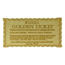 Réplica Ticket Dorado Willy Wonka Charlie y La fábrica De Chocolate