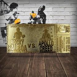 Réplica Ticket Combate Rocky Vs. Apollo Creed Bicentennial Superfight Ticket (Dorado)