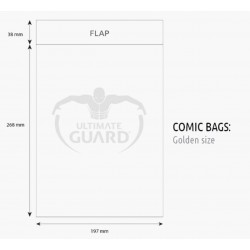 Bolsas Protectoras para Cómics Tamaño Golden