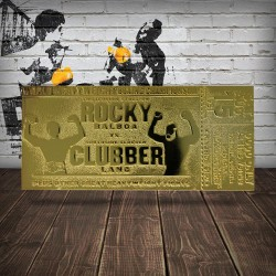 Réplica Ticket Combate Rocky Vs. Clubber Lang Rocky III (Dorado)