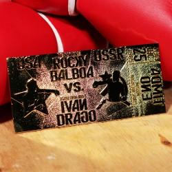 Réplica Ticket Combate Rocky Vs. Ivan Drago East Vs. West Rocky IV (Dorado)