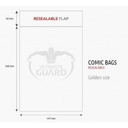 Bolsas Protectoras para Cómics Tamaño Golden con Cierre Reutilizable