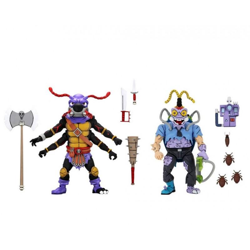 Pack Figuras Antrax Y Scumbug TMNT Tortugas Ninja Neca