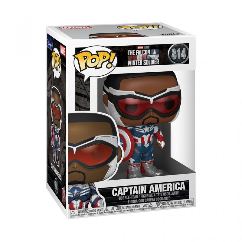 Figura Capitán América The Falcon And The Winter Soldier Funko Pop Marvel 814