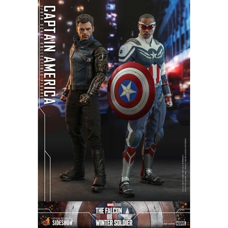 Pack Figuras Capitán America y Soldado de Invierno The Falcon and the Winter Soldier Hot Toys