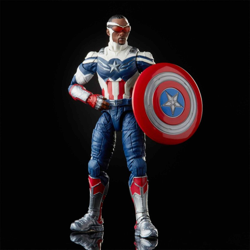 Figura Capitán América Sam Wilson The Falcon And The Winter Soldier Marvel legends