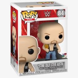 Figura Steve Austin Stone Cold Cinturón WWE POP Funko 84