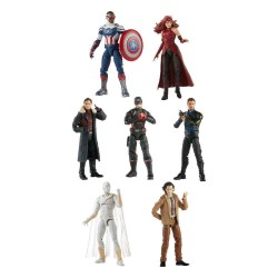 Wave Completa 8 Figuras Captain America Flight Gear Marvel Legends