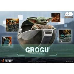 Set Figuras Grogu The Child Baby Yoda Escala 1/6 The Mandalorian Hot Toys Star Wars
