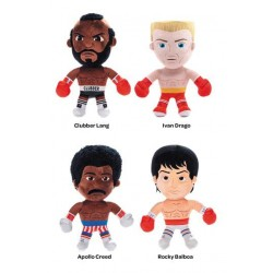 Pack Peluches Rocky, Clubber Lang, Apollo Creed e Ivan Drago
