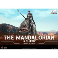 Set Figuras Mando y Blurrg Star Wars The Mandalorian Escala 1/6 Hot Toys