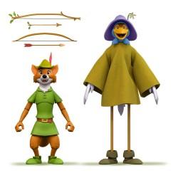 Pack Figuras Robin Hood Con Disfraz De Cigueña Disney Ultimates Super7