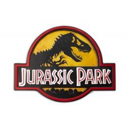 Cartel Jurassic Park Metálico Logo