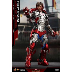 Imagén: Figura Iron Man Tony Stark Mark V Suit Up Version Deluxe Hot Toys Escala 1/6