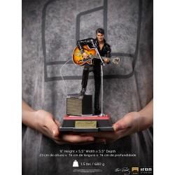 Estatua Elvis Presley 1968 Comeback Deluxe Art Escala 1:10 Iron Studios