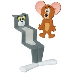 Pack 2 Mini Figuras Tom Y Jerry Aplastados UDF Medicom