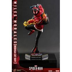 Figura Miles Morales Bodega Cat Suit Spiderman Videojuego Hot Toys
