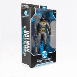 Figura Batman Battle Damage Dark Nights Metal DC Multiverse McFarlane Toys