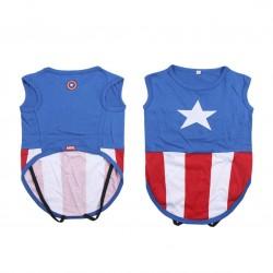 Camiseta Para Perro Capitán América Talla XS