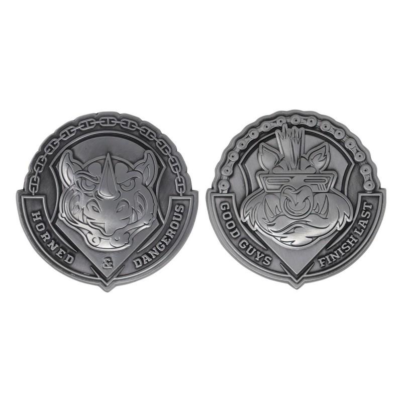 Pack Medallones Tortugas Ninja Bebop y Rocksteady