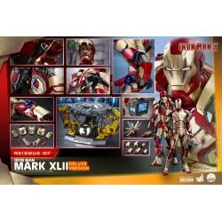 Figura Iron Man 3 Mark XLII Deluxe Version Escala 1/4 Hot Toys (Reedición)