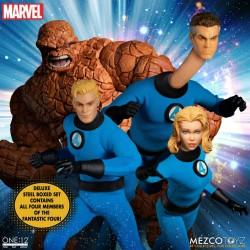 Set Figuras Los 4 Fantásticos Deluxe Box Set Mezco The One:12 Collective Marvel