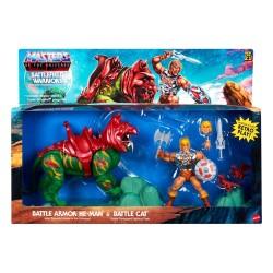 Pack He-Man y Battle Cat Battlefield Warriors Origins Masters del Universo Mattel