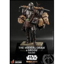 Set Figuras The Mandalorian y Grogu Baby Yoda Deluxe Star Wars Hot Toys