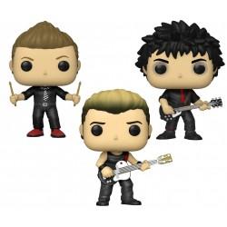 Pack Figuras Green Day Billie Joe, Mike y Tree Rocks POP Funko