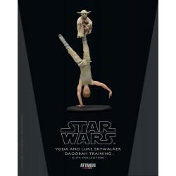 Figura Luke Skywalker y Yoda Dagobah Training Star Wars Escala 1:10 Attakus