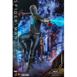 Figura Spiderman Black And Gold Suit No Way Home 1:6 Hot Toys