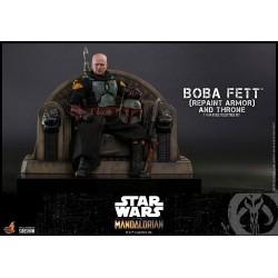 Figura Boba Fett And Throne Repaint Armor Star Wars The Mandalorian 1:6 Hot Toys