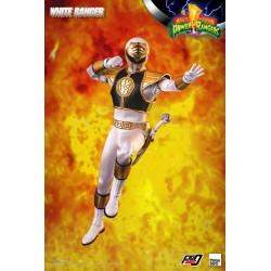 Figura White Ranger Escala 1/6 Mighty Morphin Power Rangers Threezero